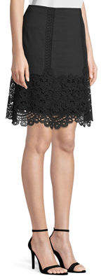 Kobi Halperin Desi Embroidered Linen Mini Skirt