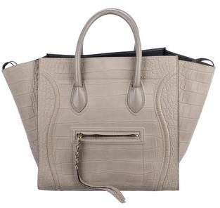 Pre Owned At Therealreal Celine Large Embossed Luggage Phantom Tote