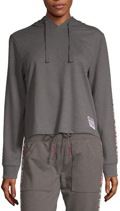 U.S. Polo Assn. USPA Womens Long Sleeve French Terry Hoodie-Juniors