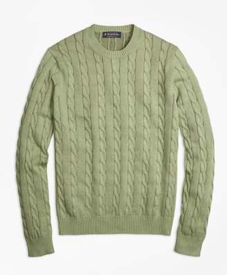 Brooks Brothers Supima Cotton Cable Knit Crewneck Sweater