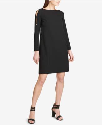 DKNY Split-Sleeve Shift Dress, Created for Macy's