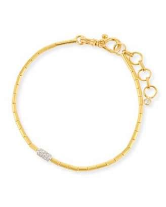Gurhan Vertigo Single-Strand Gold Pave Diamond Bracelet