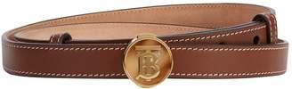 Burberry Leather TB Monogram Buckle Belt