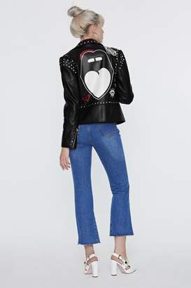Nasty Gal x Jaydee Elma Faux Leather Moto Jacket