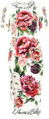 Dolce & Gabbana Floral Print Tapered Dress