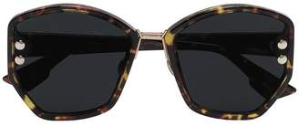 Christian Dior brown Addict 2 tortoiseshell sunglasses