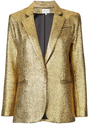 Milly metallic single-breasted blazer