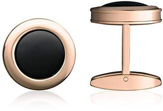 "Colibri Men's Jewelry ""Hampton"" Polished Gold-finish Stainless Steel Black Onyx Cuff Links"