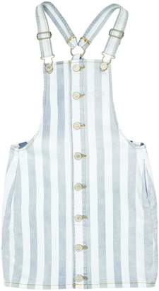 GUESS Girl's Striped Denim Skirtalls