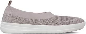 FitFlop Uberknit Metallic Weave Nylon Ballet Flats