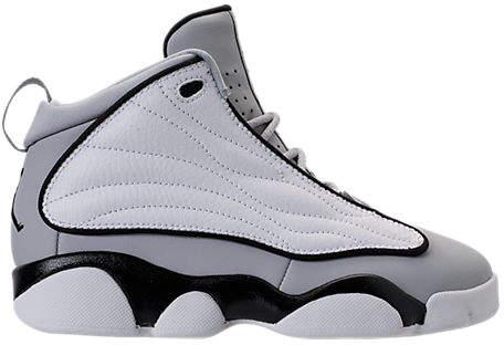 Buy Boys' Preschool Air Jordan Pro Strong Basketball Shoes, Grey!