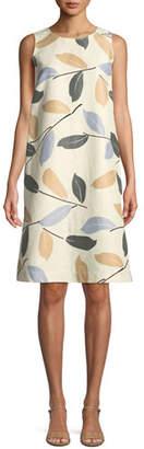 Lafayette 148 New York Hana Laurel-on-Cotton Shift Dress