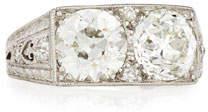 NM Estate Estate Art Deco Two-Stone Diamond Ring, Size 7