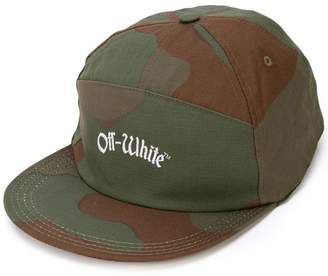 Off-White camouflage print cap