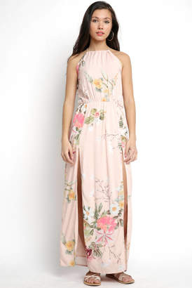 Plum Pretty Sugar Ashley High Neck Floral Maxi Dress