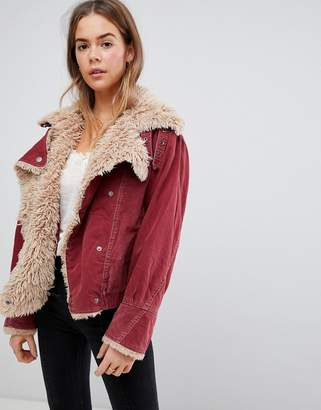 Free People sherpa jacket