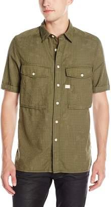 G Star Men's Type C Straight Shirt Short Sleeve Monta BW Infra Red Camo A