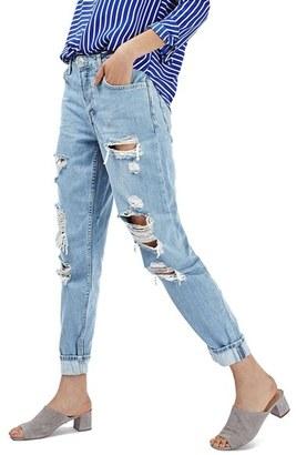 Women's Topshop 'Hayden' Super Ripped Boyfriend Jeans $90 thestylecure.com
