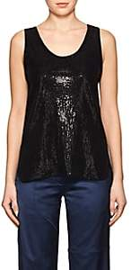 Giorgio Armani Women's Embellished Jersey Sleeveless Top-Black