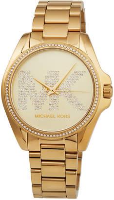 MICHAEL Michael Kors Bradshaw Yellow-Golden Logo Bracelet Watch