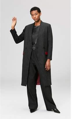 Veda Corporate Wool Coat Pinstripe