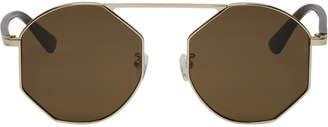 McQ Gold and Brown MQ0146 Sunglasses