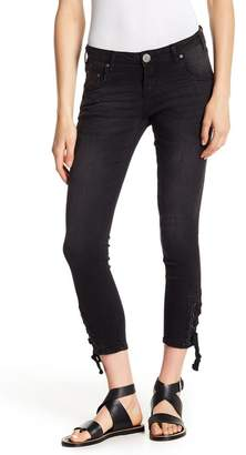 One Teaspoon Freebirds Side Tie Crop Skinny Jeans