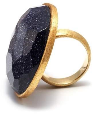 Lola Rose 'Zelda' Blue Sandstone Ring - Size P