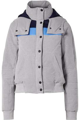 LNDR Winter Breaker Hooded Striped Quilted Shell Jacket - Light gray