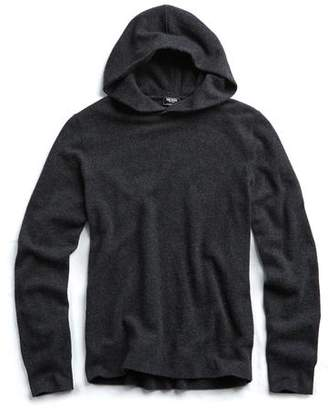 Todd Snyder Cashmere Popover Hoodie in Grey