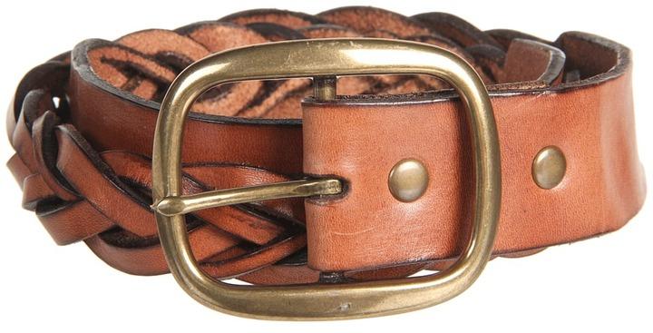 Cole Haan Heritage Braid Belt (Heritage Brown) - Apparel