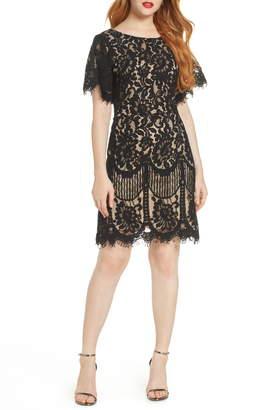 Lulus Pearson Short Sleeve Lace Cocktail Minidress