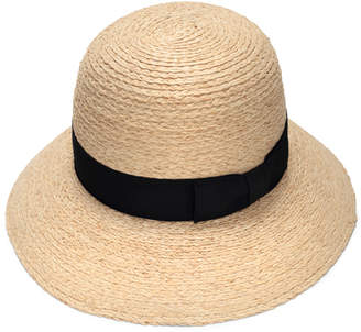 Cloche Justine Hats Straw Hat with Black Band
