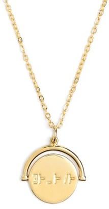 Women's Lulu Dk Love Code Charm Necklace $68 thestylecure.com