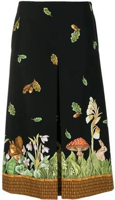 VIVETTA printed hem skirt