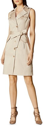 KAREN MILLEN Sleeveless Safari Dress $360 thestylecure.com