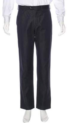 Prada Coated Flat Front Pants
