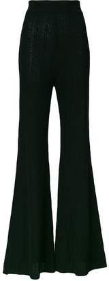 Balmain high waisted flared trousers