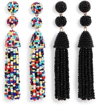BaubleBar Granita 2-Pack Beaded Tassel Earrings