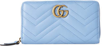 Gucci Quilted Leather Zip-Around Wallet