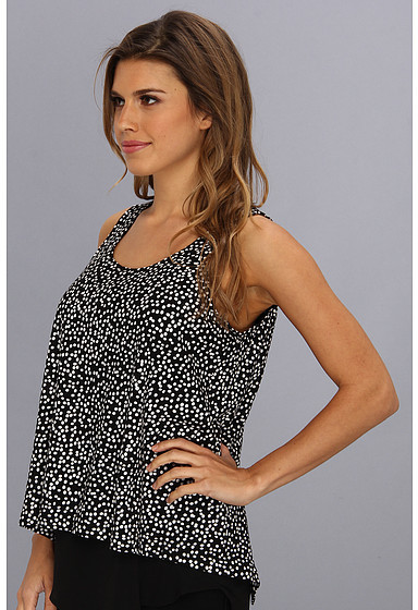 Vince Camuto TWO by Speckle Dot Double Layer Tank