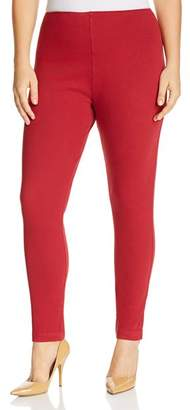 Dahlia Lyssé Plus Toothpick Cropped Legging Jeans in Red