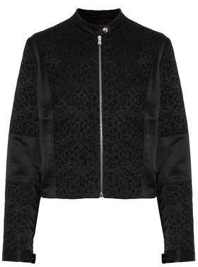 Roberto Cavalli Satin-Paneled Broderie Anglaise Jacket