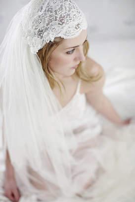 Liliana LovebySusie Lace Beaded Bridal Juliet Cap