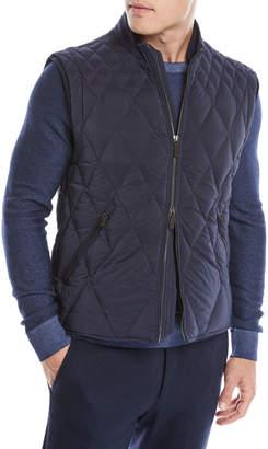 Ermenegildo Zegna Men's Quilted Zip-Front Vest