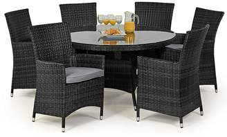 Debenhams MAZE RATTAN Grey Rattan Effect 'La' Round Garden Table And 6 Chairs