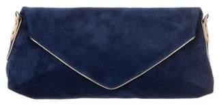 Dries Van Noten Suede Envelope Clutch w/ Strap metallic Suede Envelope Clutch w/ Strap