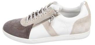 Christian Dior Leather Zip Sneakers