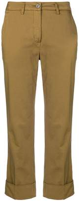 Fay cropped slim-fit trousers
