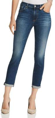 AG Jeans Prima Roll-Up Skinny Jeans in 5 Years Cobalt - 100% Exclusive